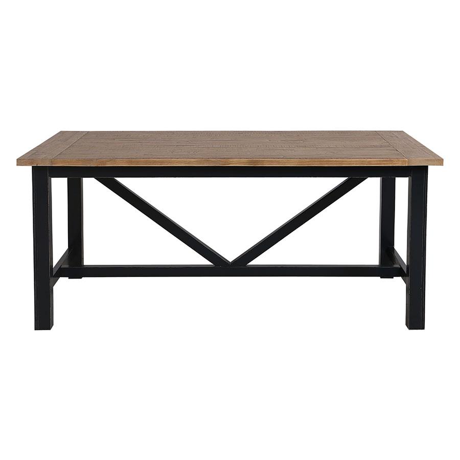 Table à manger rectangulaire bleue 4 à 6 personnes - Rivages