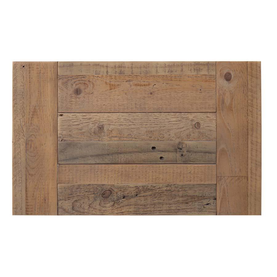 Commode chiffonnier en bois recyclé blanc - Rivages