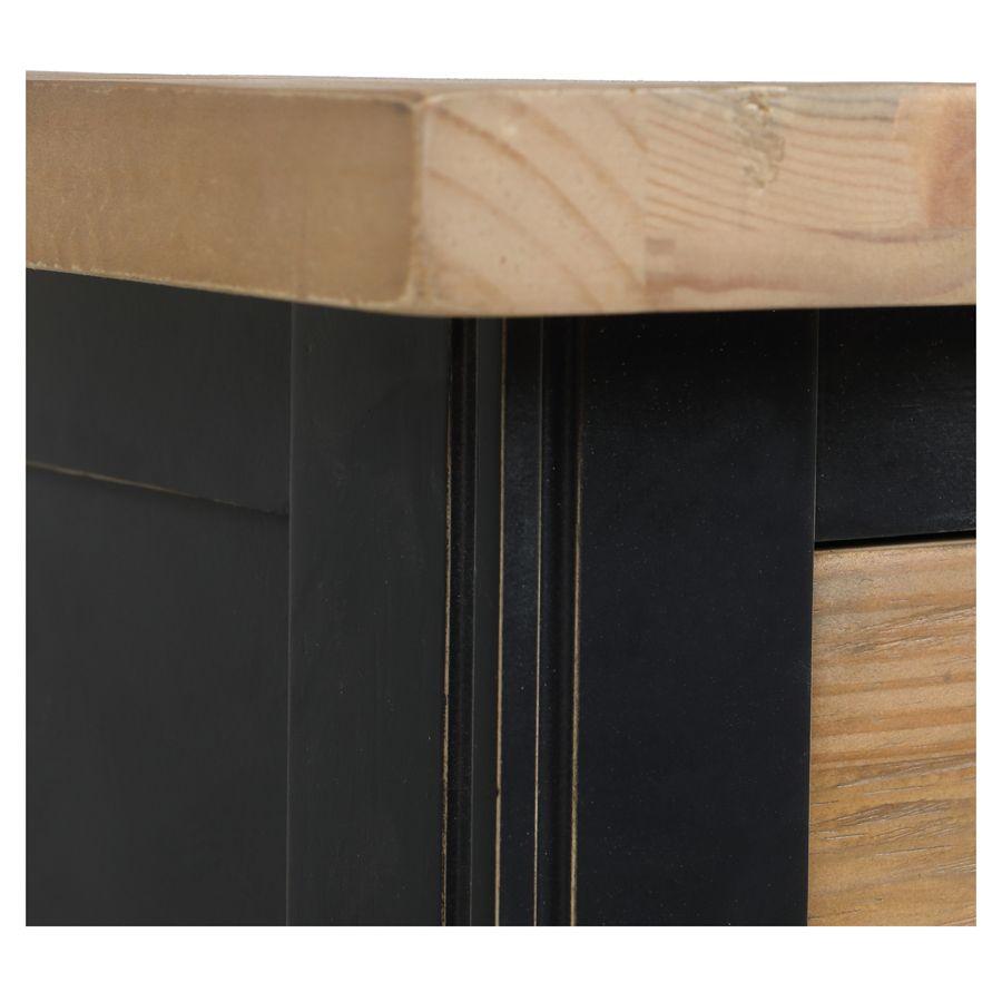 Commode chiffonnier en bois recyclé bleu navy - Rivages