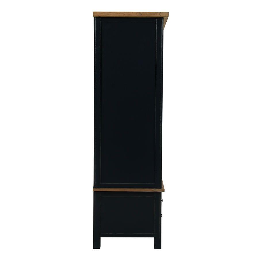 Armoire penderie 2 portes en bois recyclé bleu navy - Rivages
