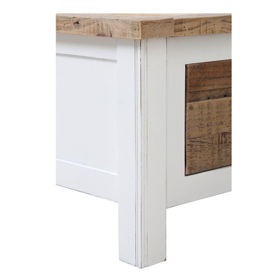 Lit 140x190 blanc avec tiroirs – Rivages