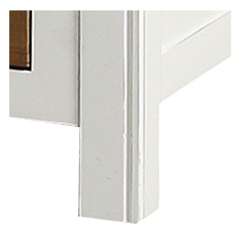 Lit 180x200 blanc avec tiroirs - Rivages