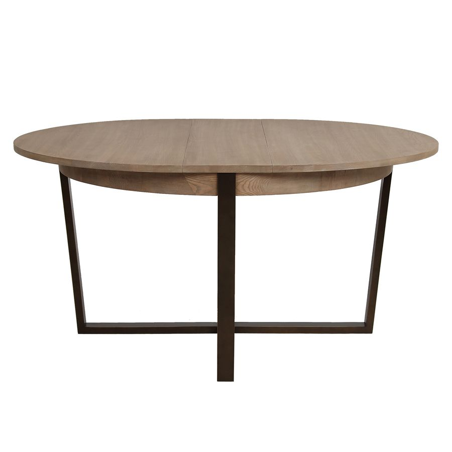 Table ronde extensible en bois et métal - Demeure