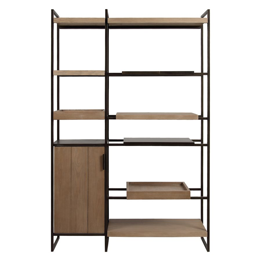 Bibliothèque en bois et acier - Demeure