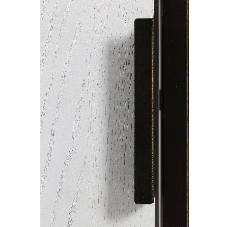 Bibliothèque en frêne massif blanc et métal - Demeure