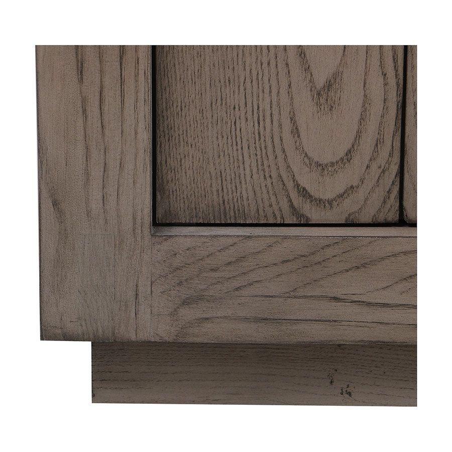 Buffet bas contemporain 4 portes 2 tiroirs en frêne naturel fumé - Basale