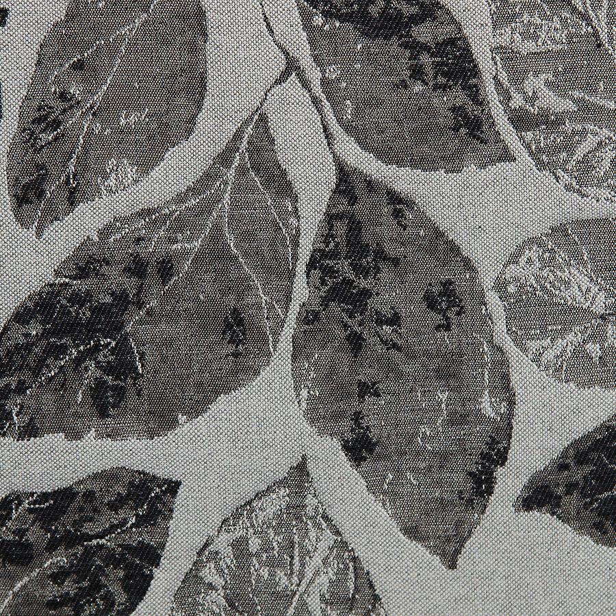 Fauteuil bergère en frêne noir et tissu feuilles noires - Bruges