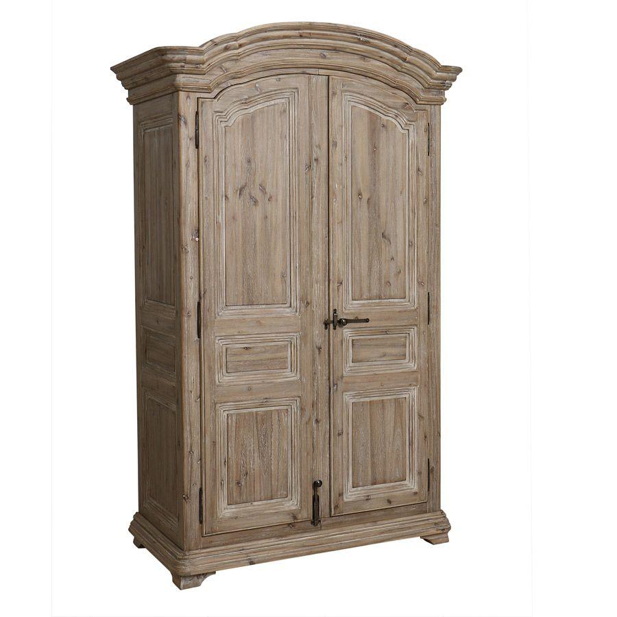 Armoire penderie 2 portes en acacia massif - Chenonceau
