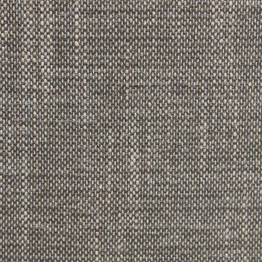 Fauteuil gris en frêne massif et accoudoirs en cuir - Voyages