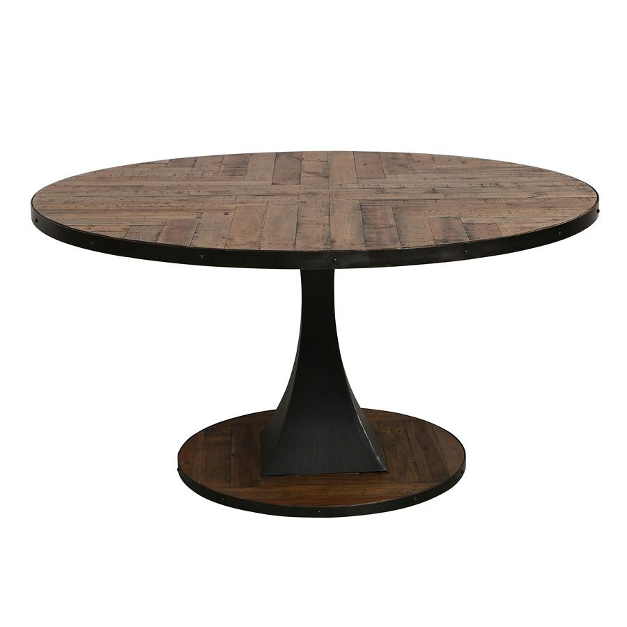 Table à manger ronde industrielle D150 cm - Manufacture