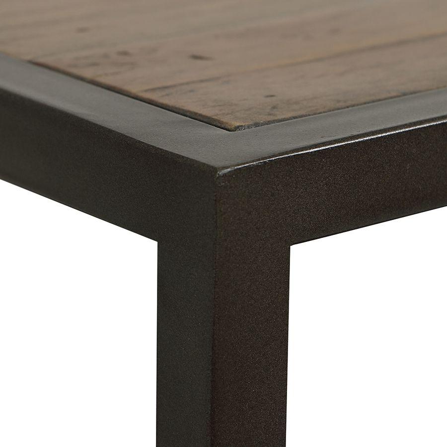 Console et bout de canapé gigognes industriels en bois recyclé naturel grisé - Manufacture