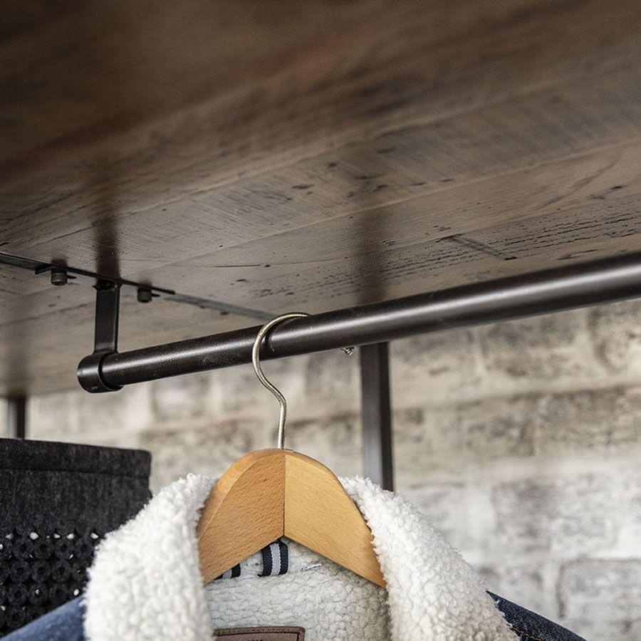 Dressing industriel en bois recyclé et acier - Manufacture