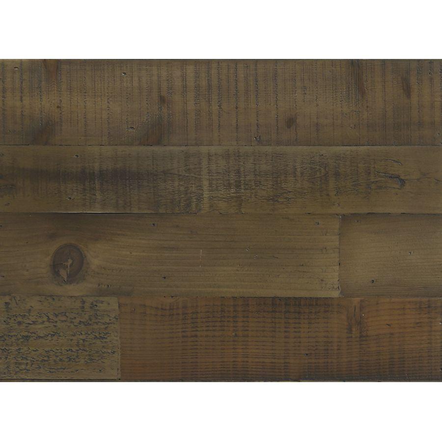 Table de chevet industrielle en bois naturel grisé recyclé et métal - Manufacture