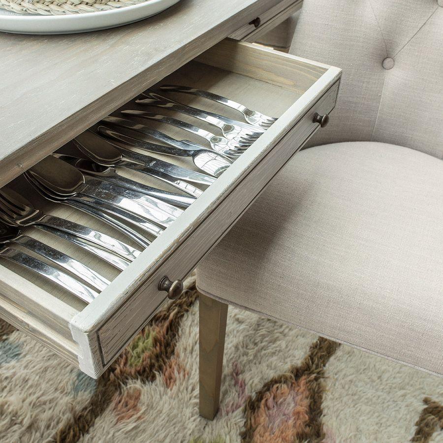 Table à manger en épicéa massif 6 à 8 personnes - Amboise