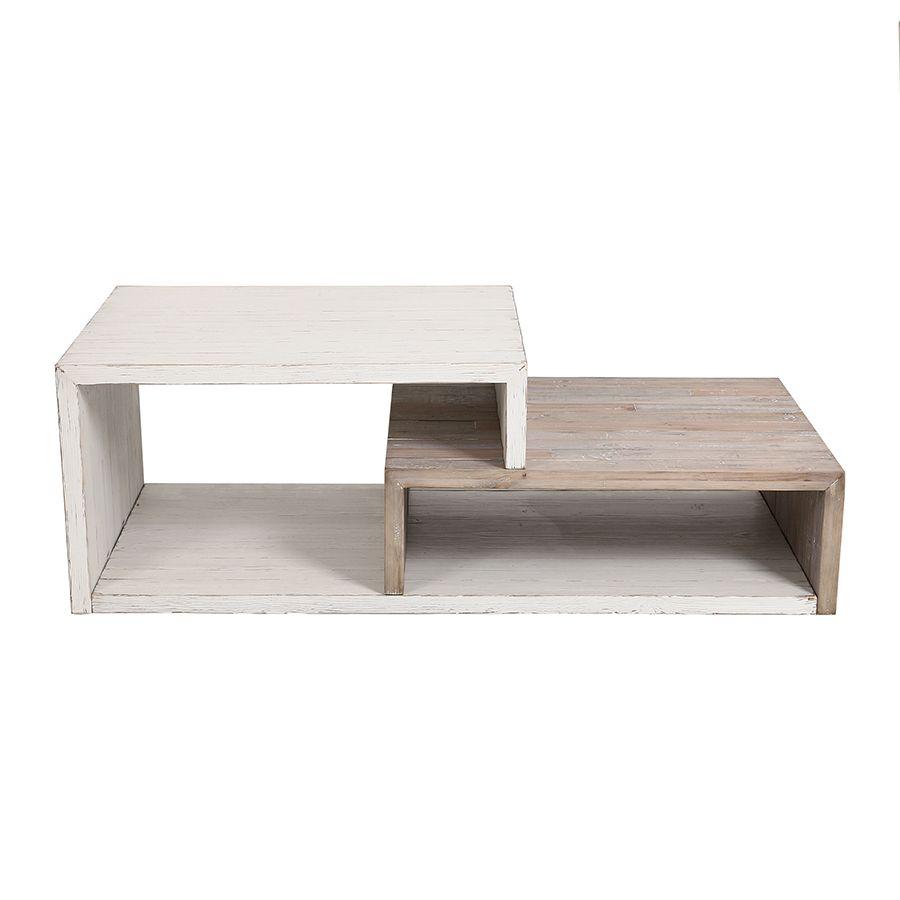 Table basse rectangulaire en pin - Embruns