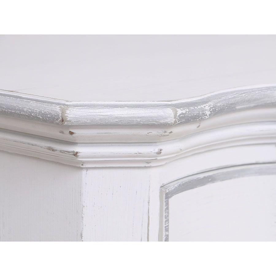 Commode blanche 3 tiroirs en bois - Monceau