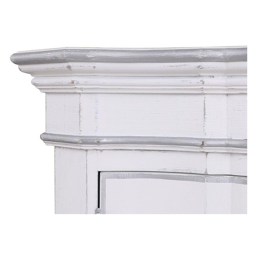 Armoire penderie blanche 2 portes en bois - Monceau