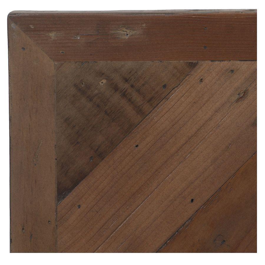 Lit 140x190 en bois recyclé naturel grisé - Empreintes