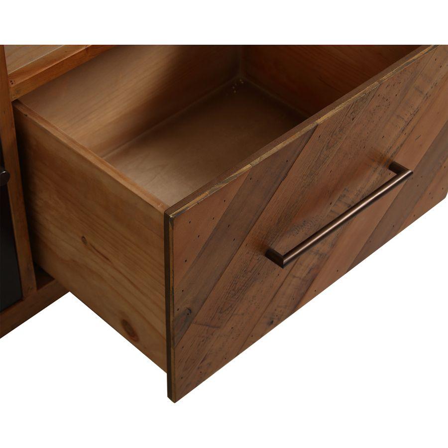 Meuble TV en bois recyclé - Empreintes