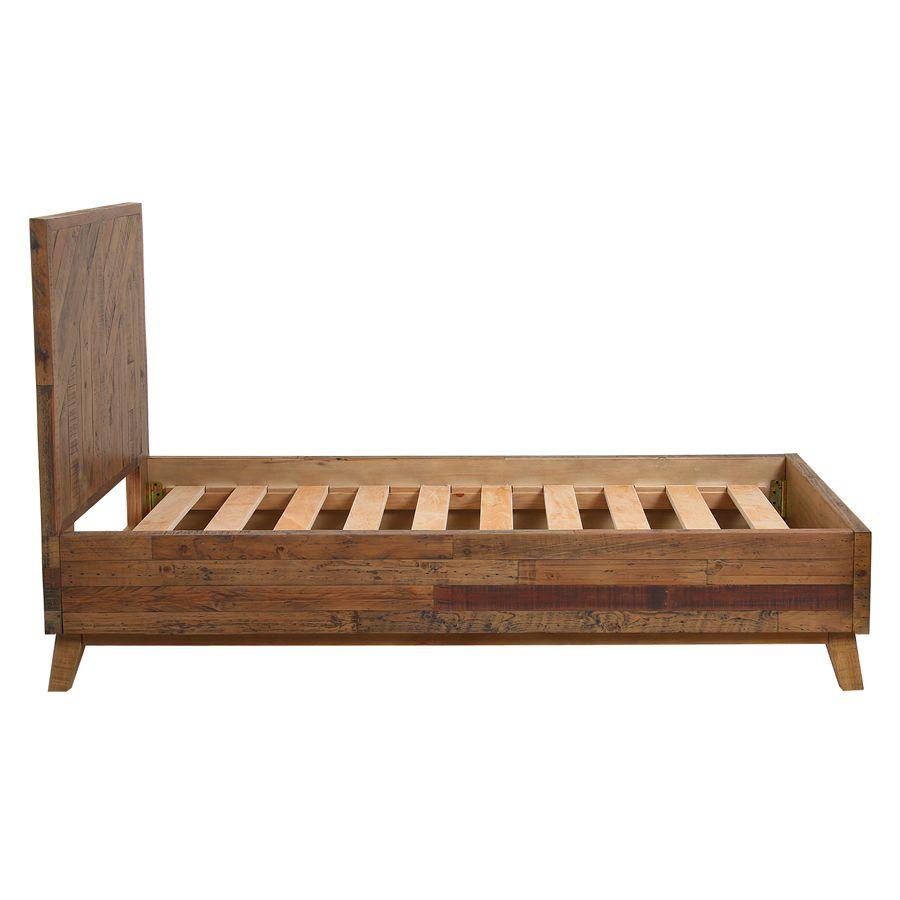 Lit enfant 90x190 en bois recyclé - Empreintes