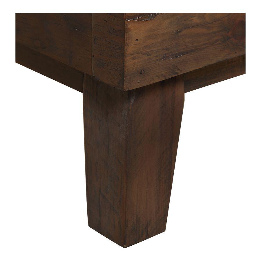 Lit 160x200 en bois recyclé naturel grisé - Empreintes