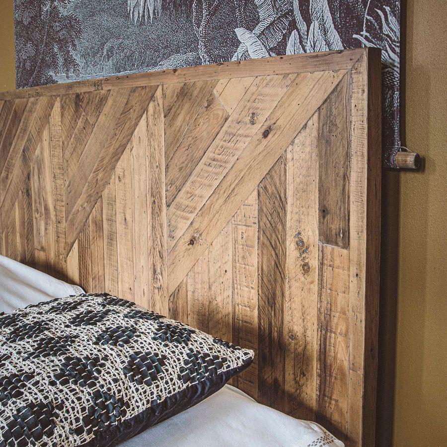 Lit 180x200 en bois recyclé - Empreintes