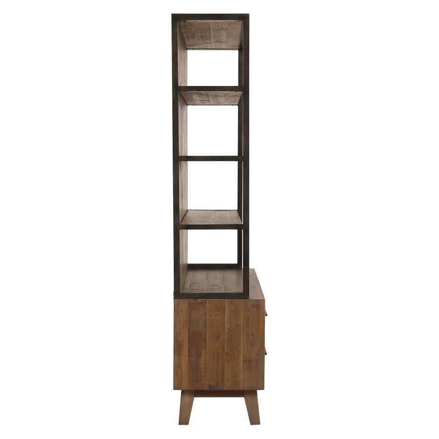 Bibliothèque en bois recyclé naturel grisé - Empreintes