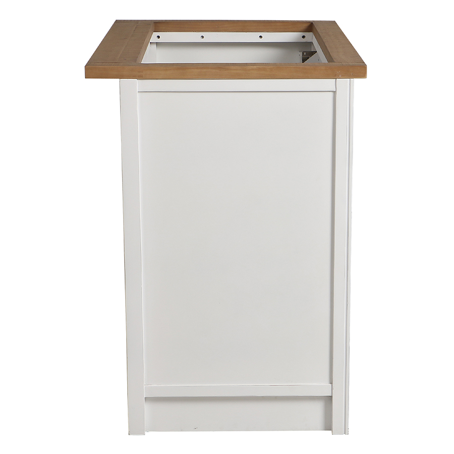 Meuble pour évier en bois recyclé blanc - Rivages