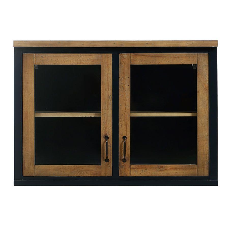Meuble de cuisine haut 2 portes vitrées