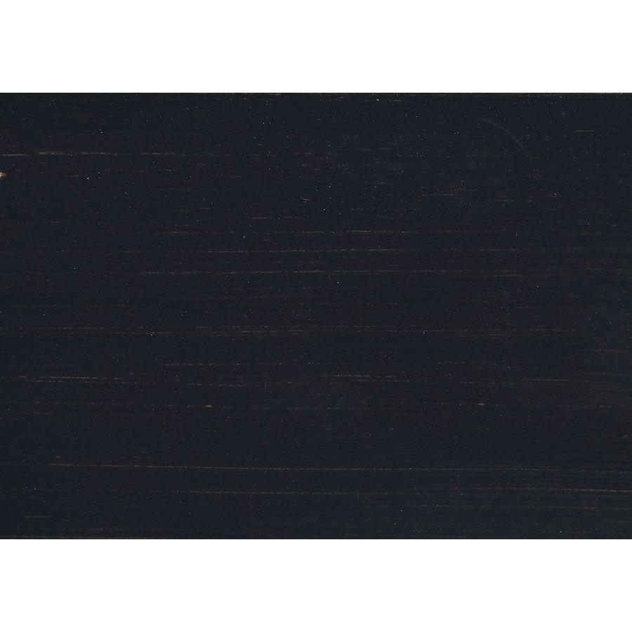 Buffet bas de cuisine 2 portes en pin noir graphite - Brocante