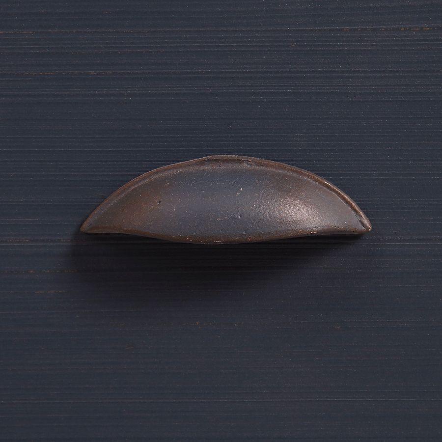Meuble de cuisine pour évier en pin bleu grisé vieilli - Brocante