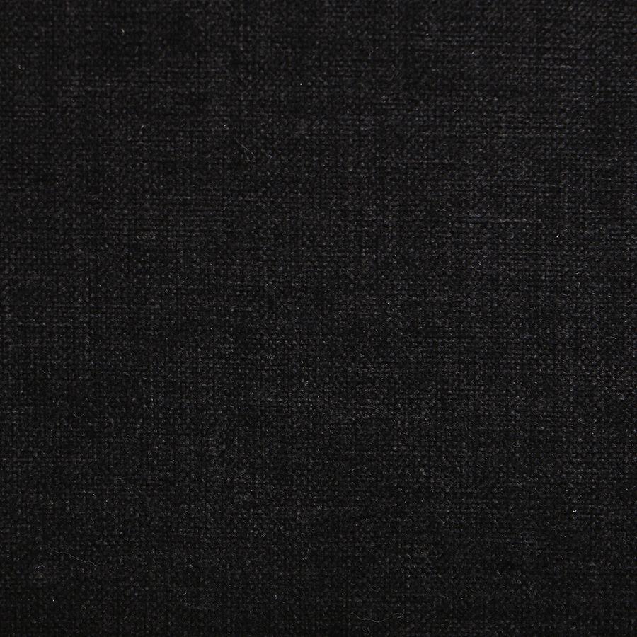 Fauteuil bridge en bois massif et tissu anthracite - Ernest