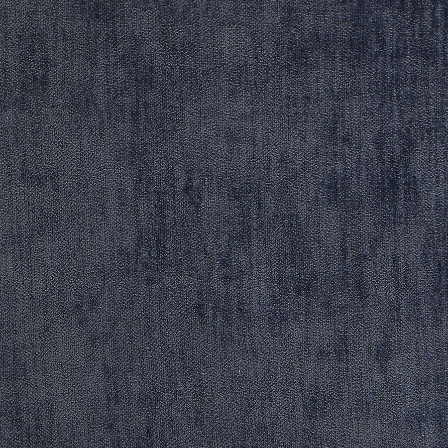 Fauteuil bridge en bois massif et tissu velours bleu - Ernest