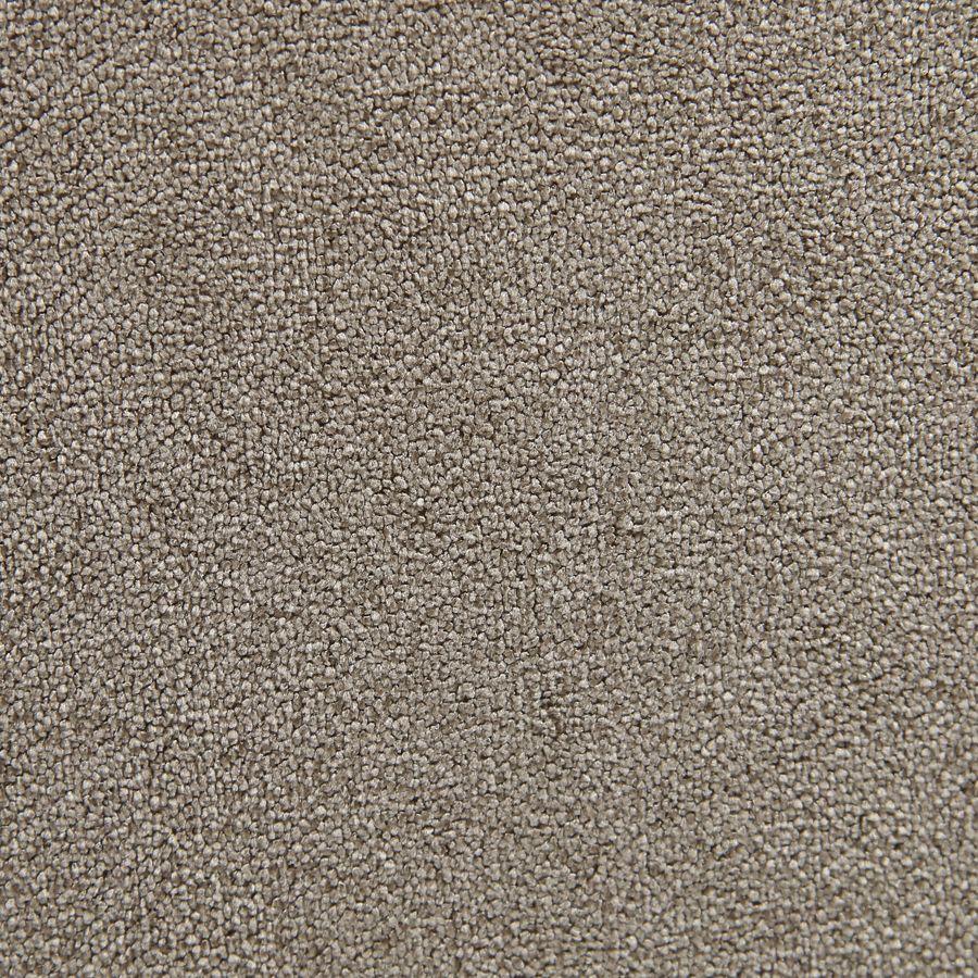 Banquette 2 places en tissu velours taupe et frêne massif - Clarence