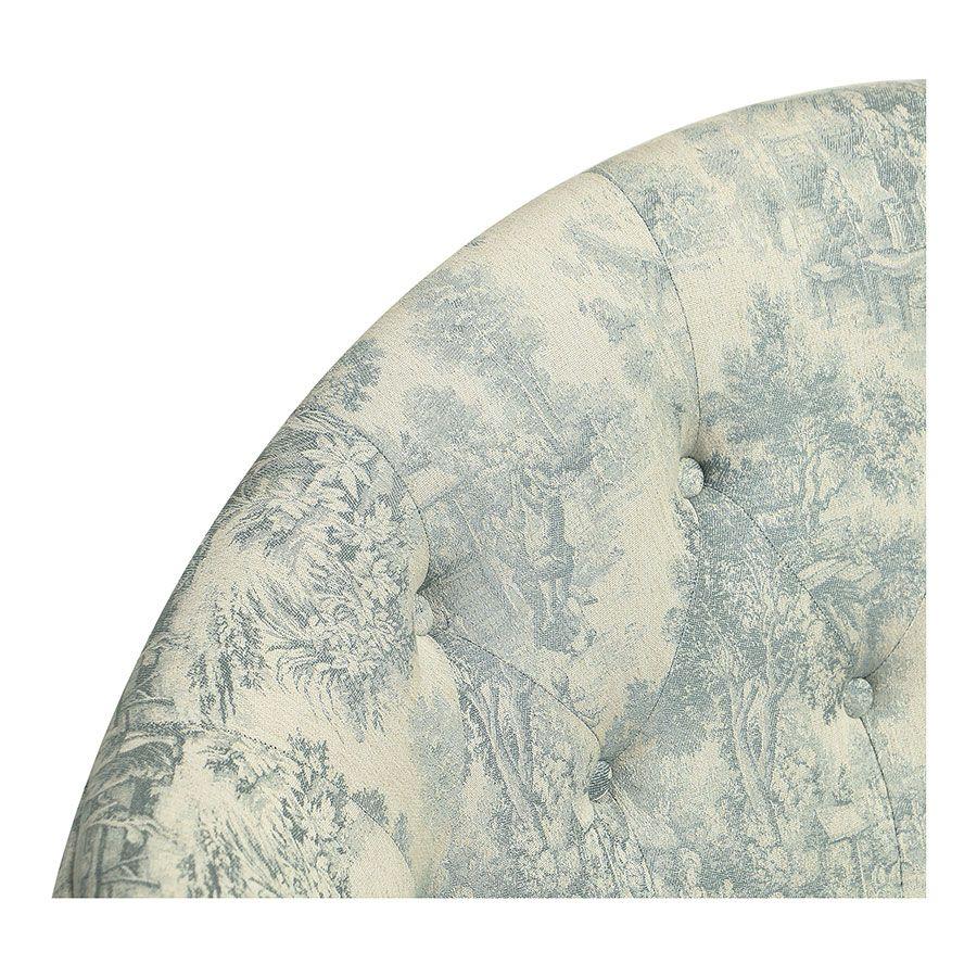 Banquette 2 places en tissu toile de Jouy - Clarence