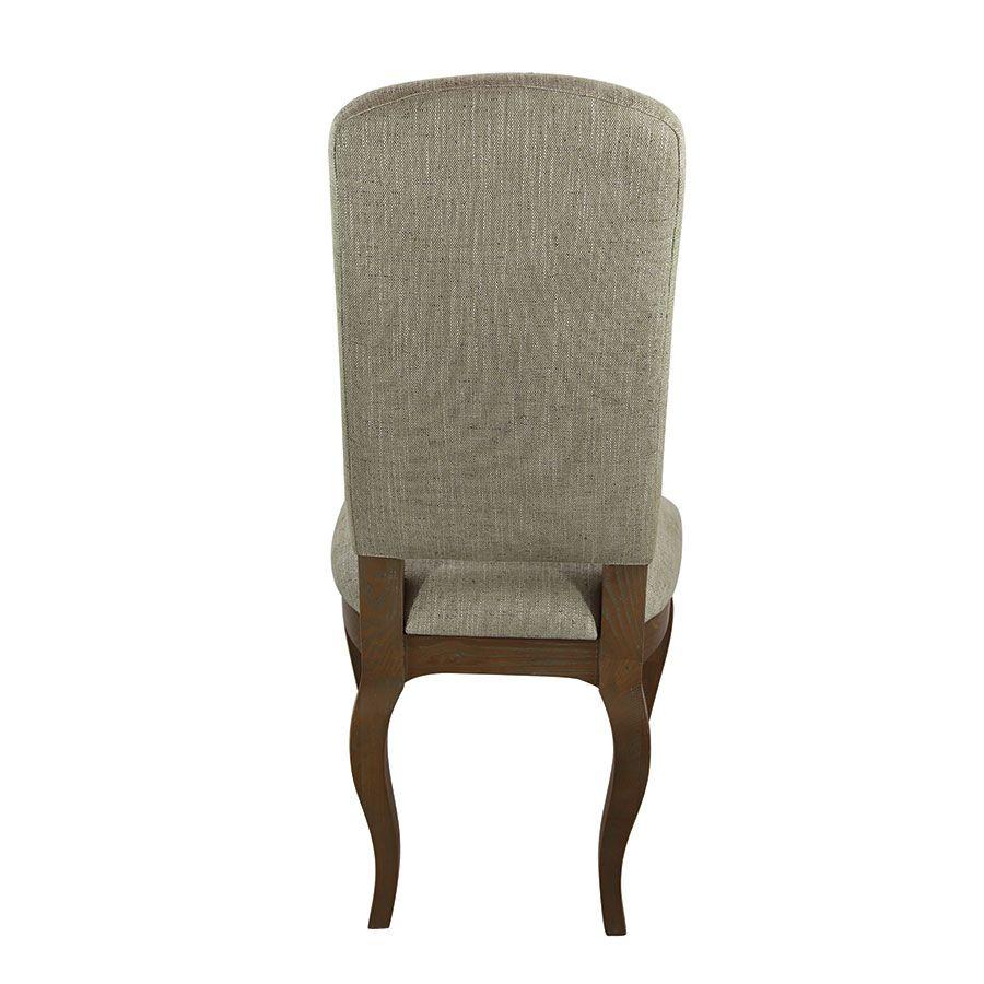 Chaise en frêne massif et tissu vert amande - Romy