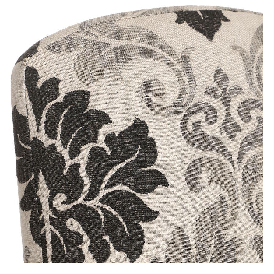 Chaise en tissu arabesque et frêne massif - Romy