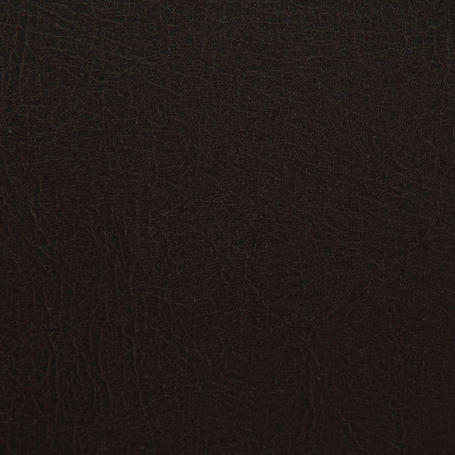 Fauteuil bergère en bois noir et éco-cuir chocolat - Césarine