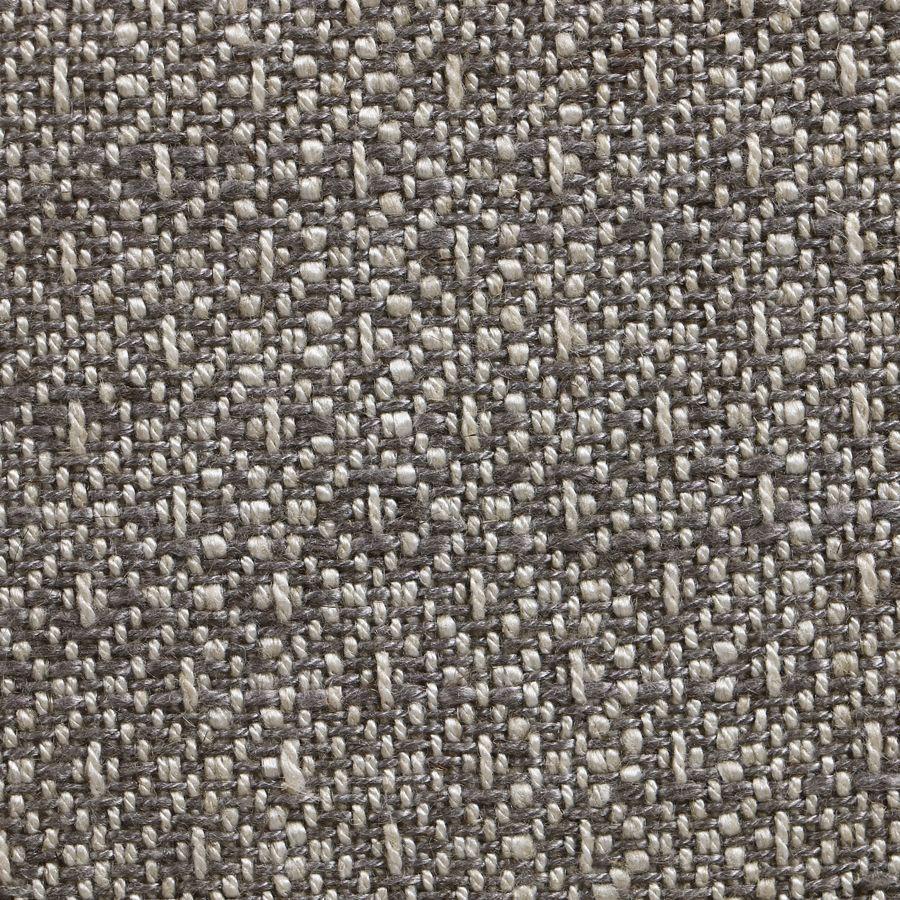 Fauteuil en tissu losange gris et frêne massif - Césarine