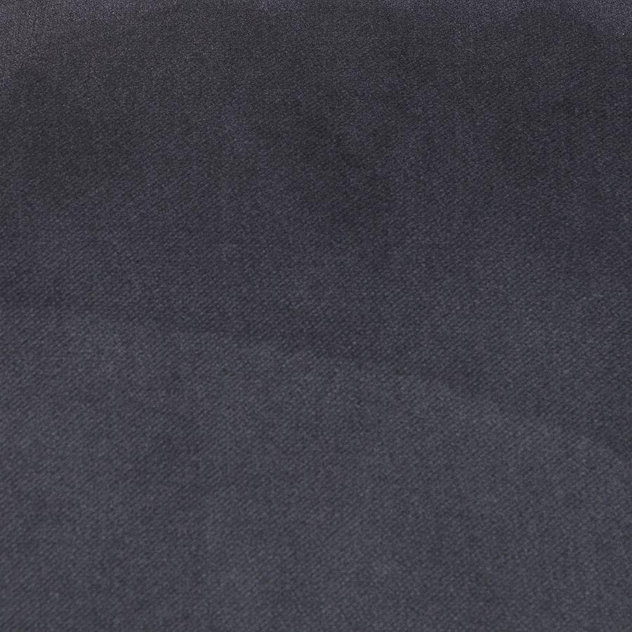 Fauteuil en velours bleuté et frêne massif - Césarine