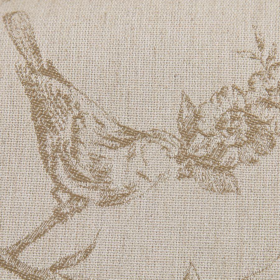Fauteuil bergère en hévéa blanc et tissu paradisier - Césarine