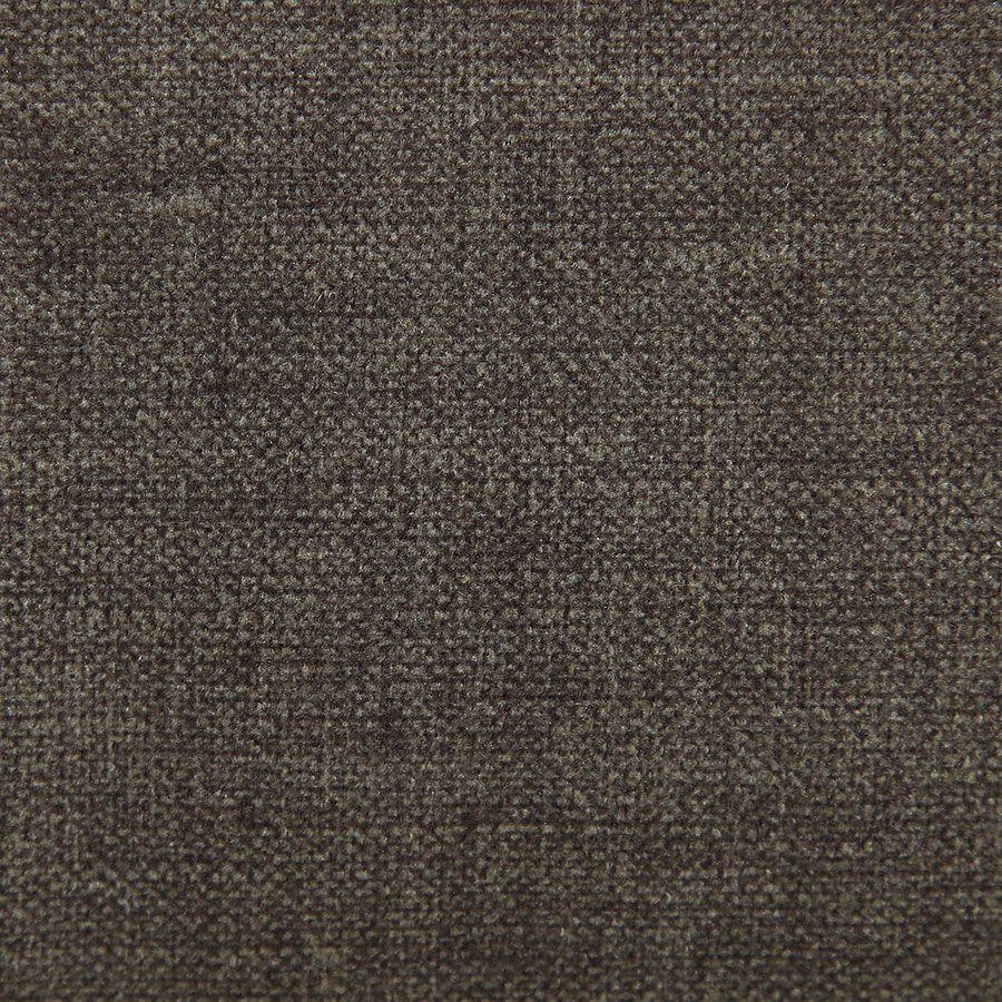 Fauteuil de table en tissu marron glacé - Jude