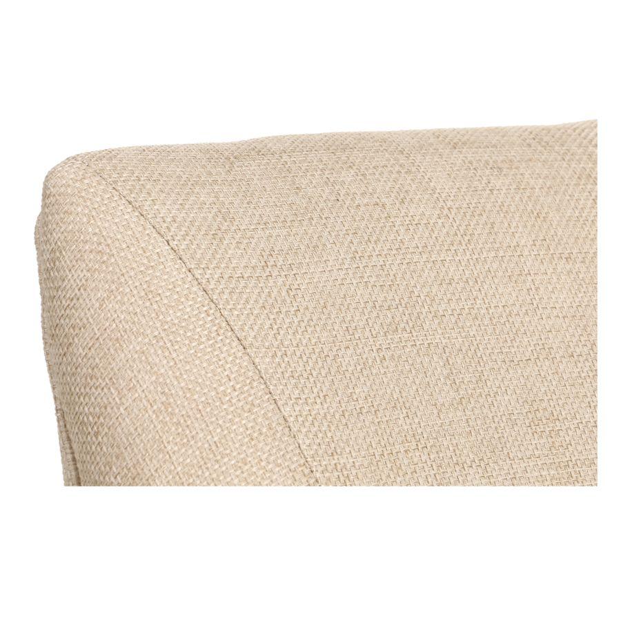 Fauteuil de table en tissu ficelle et frêne massif - Jude