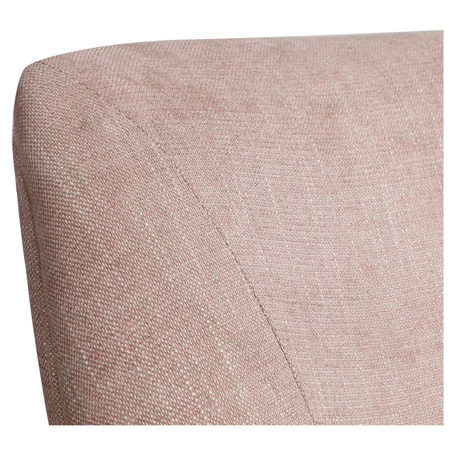 Fauteuil de table en tissu vieux rose - Jude