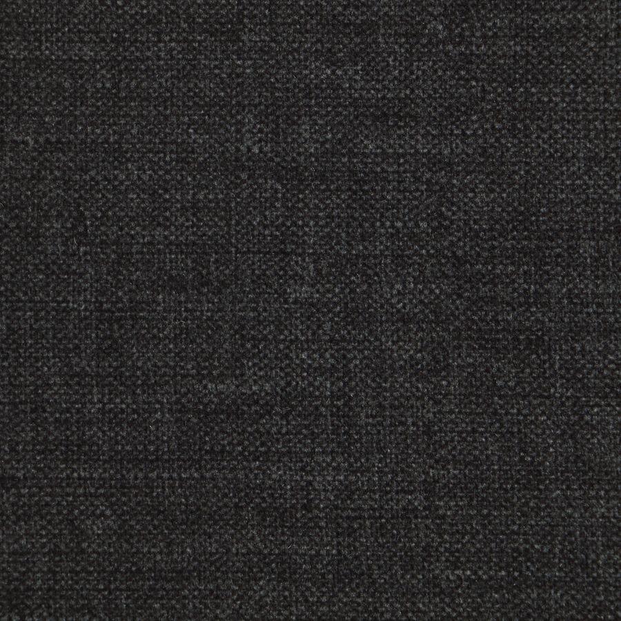 Pouf en hévéa massif château gris et tissu anthracite - Hector