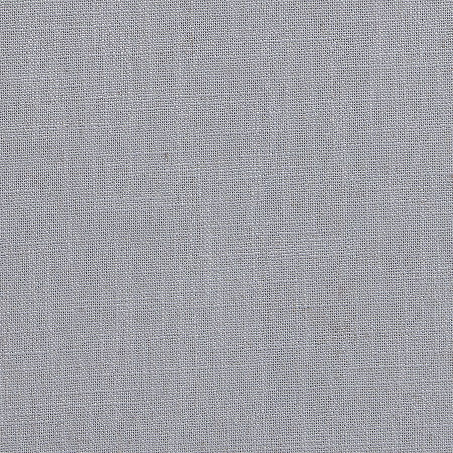 Pouf en hévéa blanc et tissu bleu glacier - Hector