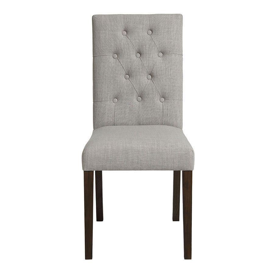 Chaise en tissu capitonné beige - Albane