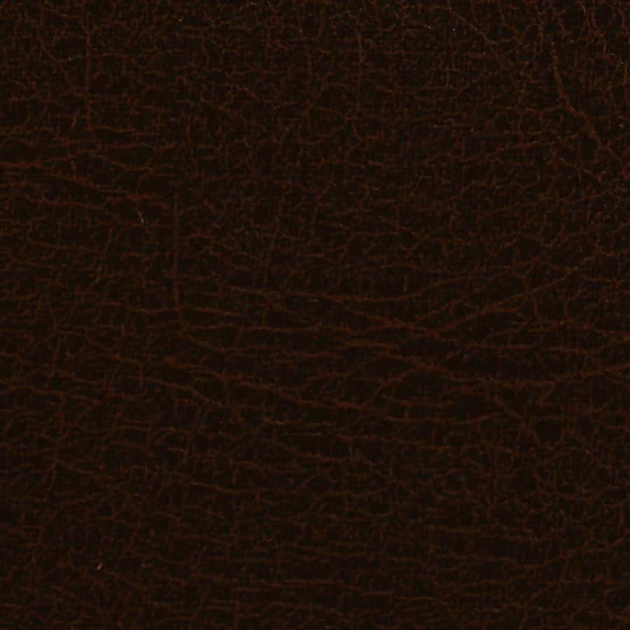 Chaise capitonnée en éco- cuir chocolat - Albane