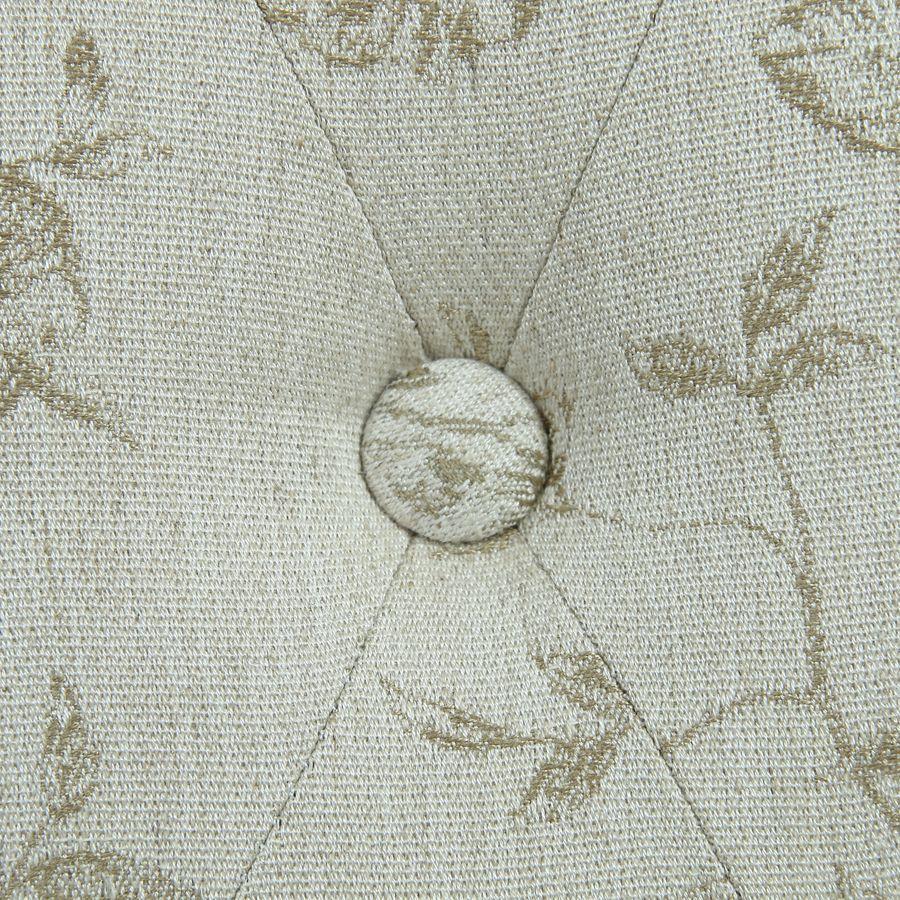 Chaise capitonnée en tissu paradisier et frêne - Albane