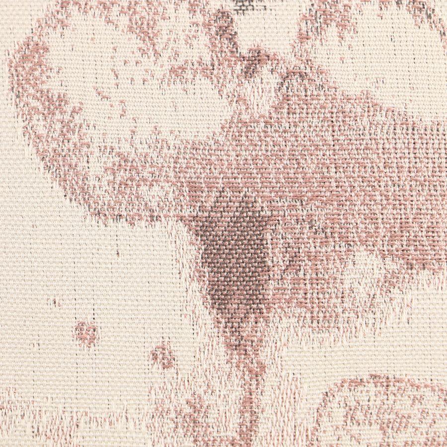 Chaise capitonnée en tissu fleurs opaline - Albane